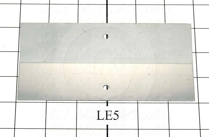 Fabricated Parts, Center Reflector, 5.78 in. Length, 3.00 in. Width, 0.050 in. Thickness, Bright Mill Finish Finish