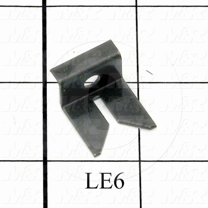Fabricated Parts, Centering Clip, 1.06 in. Length, 0.75 in. Width, Black Oxide Finish