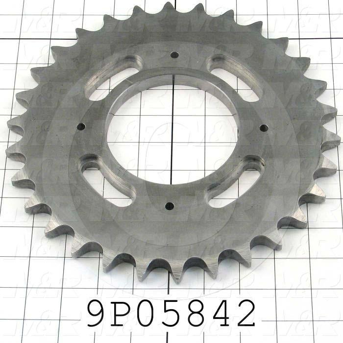 Fabricated Parts, Chain Drive Sprocket, 10.11 in. Diameter, 0.57 in. Thickness
