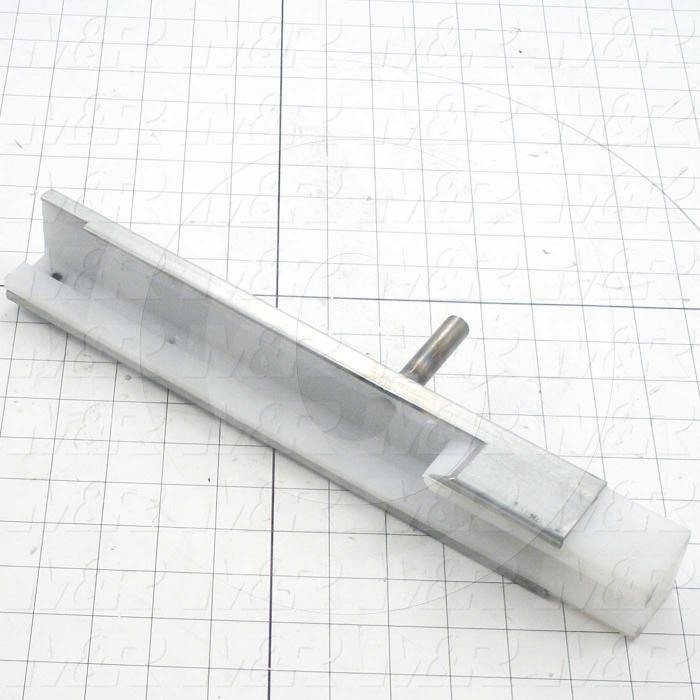 "Fabricated Parts, Chain Guide Extrusion - Left 15.625"", 15.63 in. Length, 1.77 in. Width, 3.50 in. Height"