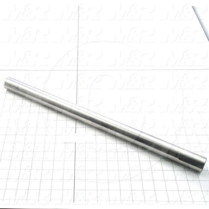 Fabricated Parts, Circulation Blower Shaft, 22.25 in. Length, 1.44 in. Diameter