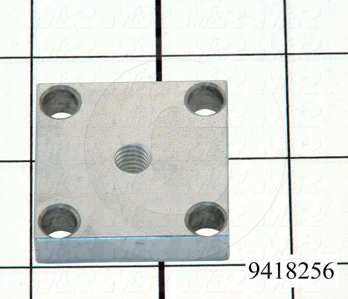 "Fabricated Parts, Clamp Nut 1.5""Lg, 1.50 in. Length, 1.50 in. Width, 3/8 in. Thickness, Zinc Plated Finish"