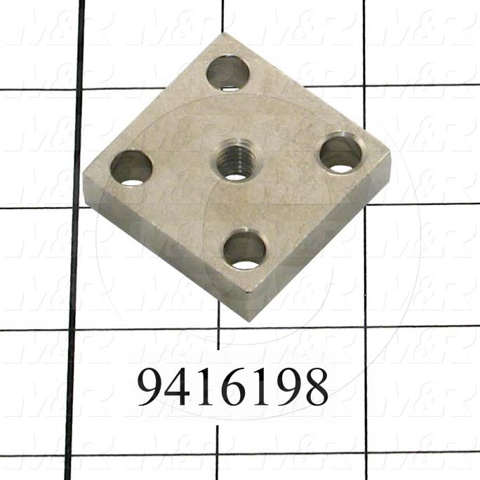 Fabricated Parts, Clamp Nut, 1.50 in. Length, 1.50 in. Width, 0.38 in. Height, OC50001 Nickel Plating Finish