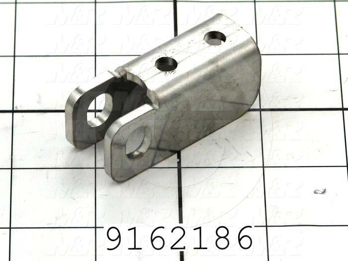 Fabricated Parts, Cleavis Channel, 1.58 in. Length, 0.88 in. Width, 1.00 in. Height