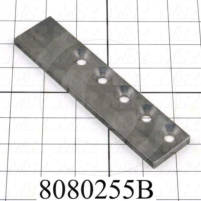 Fabricated Parts, Clevis Guide, 6.50 in. Length, 1.50 in. Width, 0.31 in. Thickness