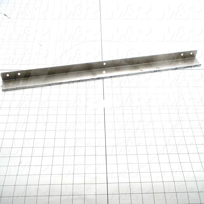 "Fabricated Parts, Compression Bar ""B"", 24.00 in. Length, 2.25 in. Width, 1.25 in. Height, 16 GA Thickness"