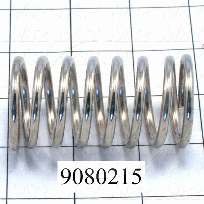 Fabricated Parts, Compression Spring, 2.75 in. Length, 1.40 in. Diameter