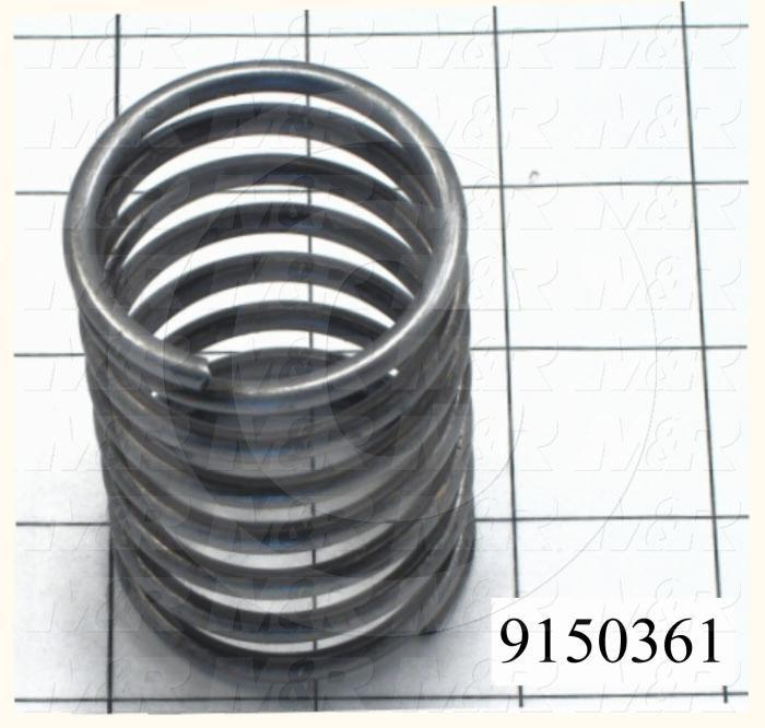 Fabricated Parts, Compression Spring, 2.75 in. Length, 1.80 in. Diameter