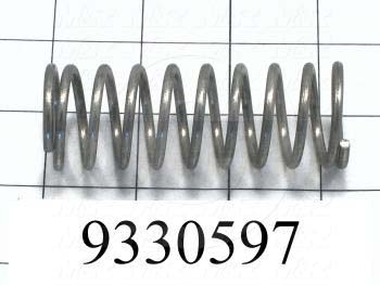 Fabricated Parts, Compression Spring, 3.25 in. Length, 1.17 in. Diameter