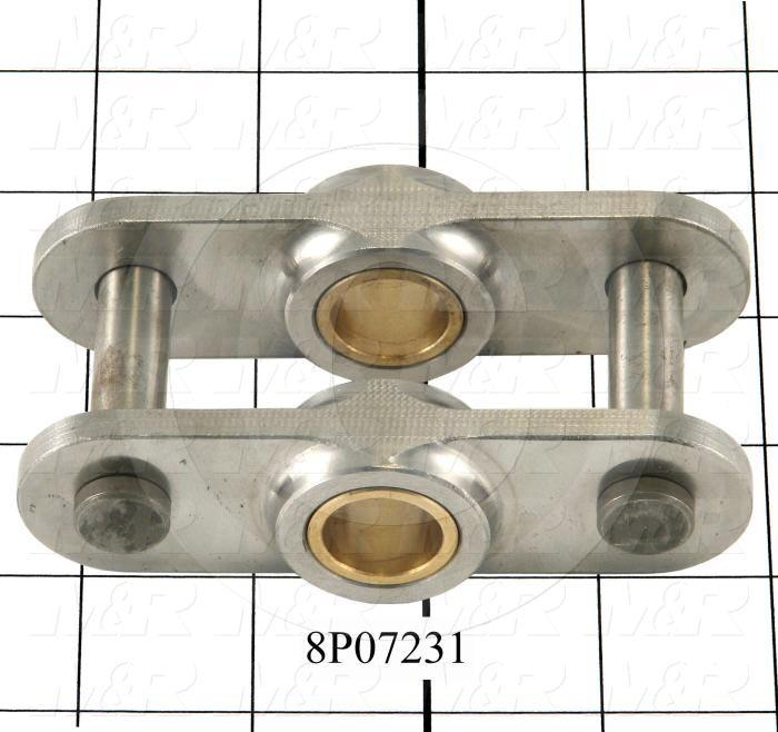 Fabricated Parts, Connecting Link, 4.29 in. Length, 1.23 in. Width, 0.22 in. Height