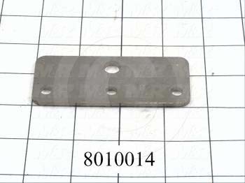 Fabricated Parts, Connector Plate, 3.63 in. Length, 1.50 in. Width, 0.13 in. Thickness