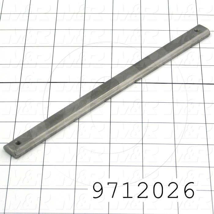 """Fabricated Parts, Control Box Holder Nut 9""""Lg C, 9.00 in. Length, 0.63 in. Width, 0.25 in. Height"""
