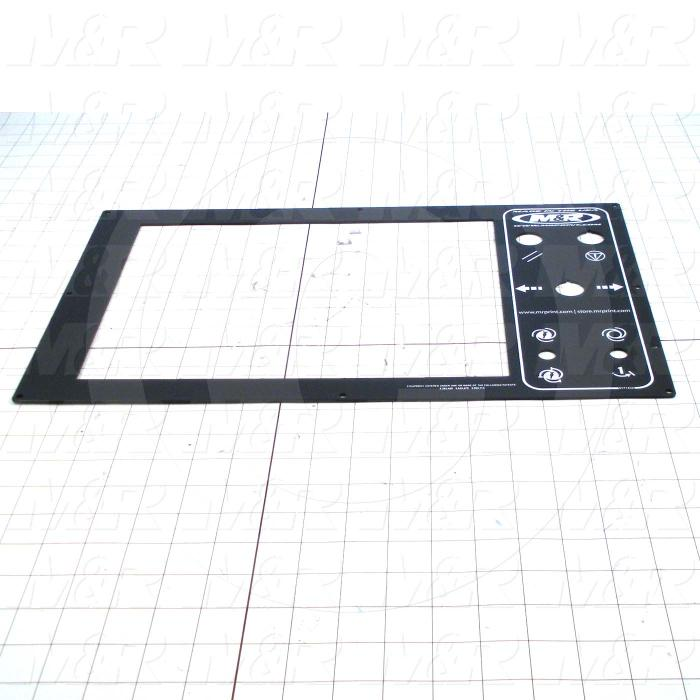 Fabricated Parts, Control Panel, 17.78 in. Length, 11.00 in. Width, 0.08 in. Thickness, OC50000 Black Anodizing Finish