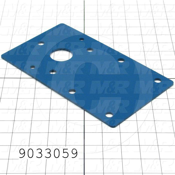Fabricated Parts, Conveyor Bearing Bracket, 10.00 in. Length, 5.75 in. Width, 10 GA Thickness