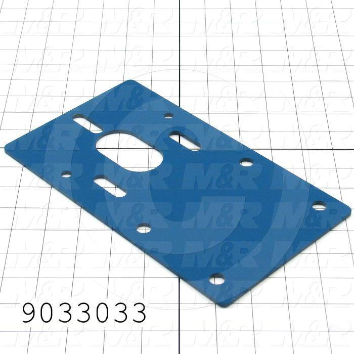 Fabricated Parts, Conveyor Delivery-Bearing Bracket, 10.00 in. Length, 5.75 in. Width, 10 GA Thickness