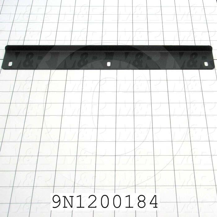 Fabricated Parts, Corner Glass Hold-Down, 13.00 in. Length, 1.80 in. Width, 0.50 in. Height, 16 GA Thickness, Satin Black Finish