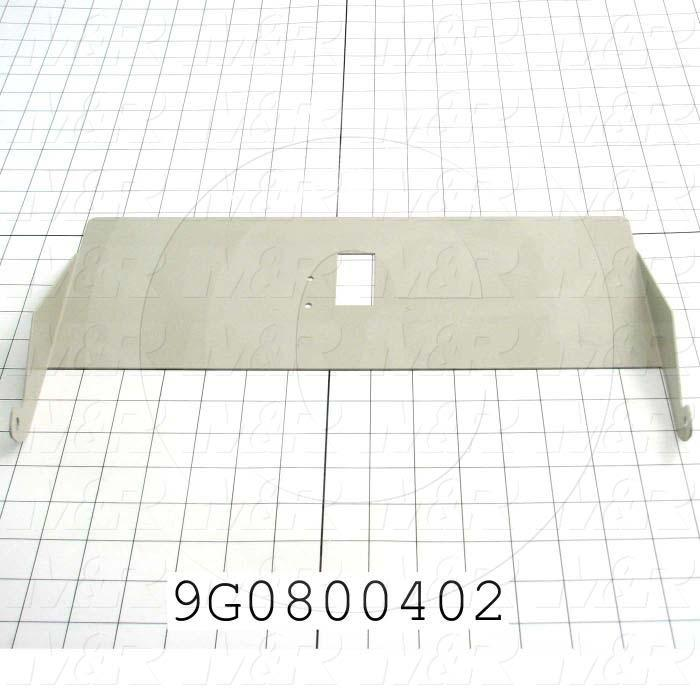 "Fabricated Parts, Counter Chute 15.120""L Ac, 15.12 In. Length, 8.54 In Width, 1.65 in. Height, 16 GA Thickness"
