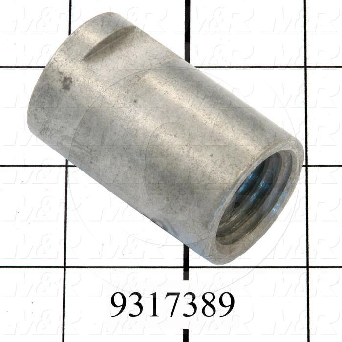 Fabricated Parts, Coupling, 2.00 in. Length, 1.25 in. Diameter, Nickel Plated Finish