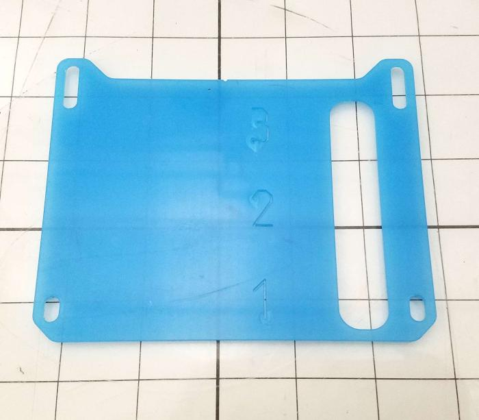 Fabricated Parts, Cover, Ink Line, 5.06 in. Length, 5.14 in. Width, 0.94 in. Thickness