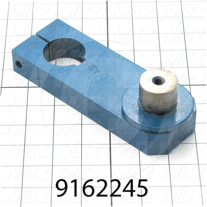 Fabricated Parts, Crank Base Weldment, 7.19 in. Length, 2.50 in. Width, 2.26 in. Height