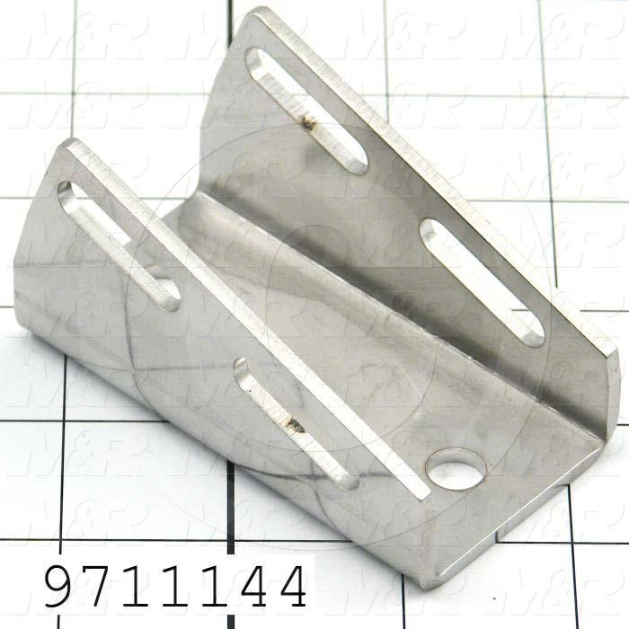 "Fabricated Parts, Cyl. Mtg. Clamp 3.82""Lg Ps, 3.28 in. Length, 1.82 in. Width, 1.77 in. Height, 11 GA Thickness"