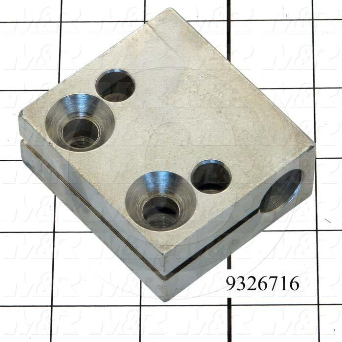 Fabricated Parts, Cylinder Attach Bracket, 2.50 in. Length, 2.25 in. Width, 1.00 in. Height