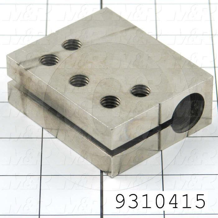 Fabricated Parts, Cylinder Attachment Block, 2.25 in. Length, 2.75 in. Width, 1.00 in. Height