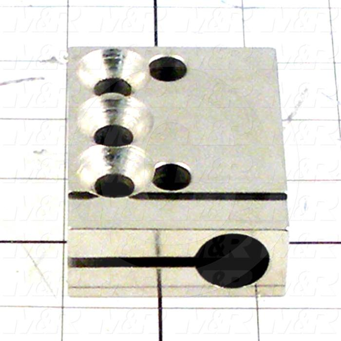 Fabricated Parts, Cylinder Attachment Block, 2.50 in. Length, 2.25 in. Width, 1.00 in. Height