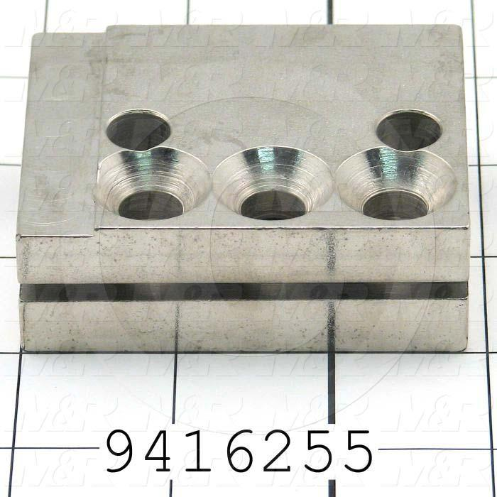 Fabricated Parts, Cylinder Attachment Block, 2.88 in. Length, 2.25 in. Width, 1.00 in. Height