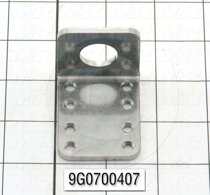 Fabricated Parts, Cylinder Bracket, 2.00 in. Length, 1.625 in. Width, 1.625 in. Height, 10 GA Thickness, Remove All Burrs