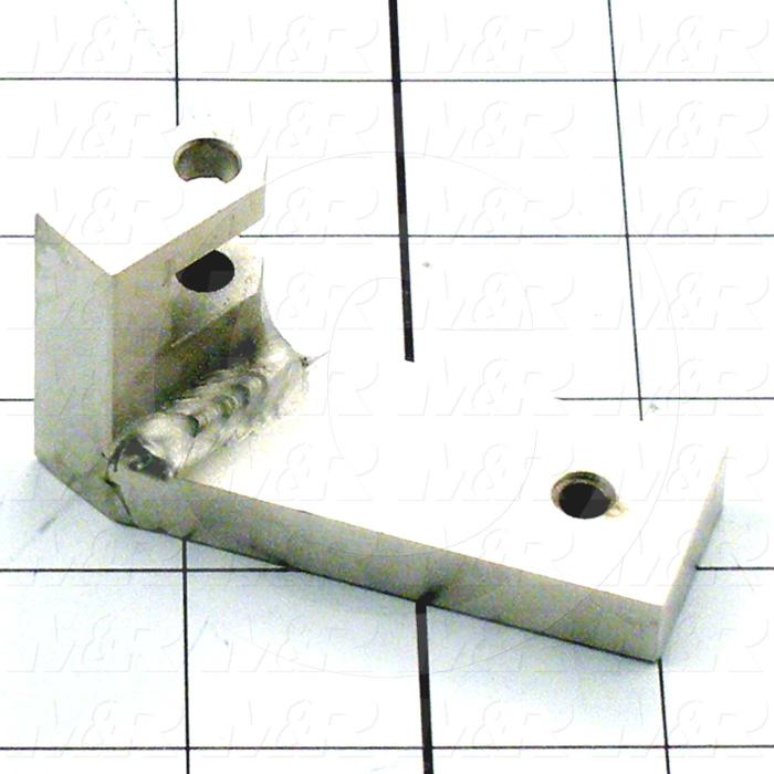 Fabricated Parts, Cylinder Bracket Weldment, 2.09 in. Length, 1.52 in. Width, 2.11 in. Height