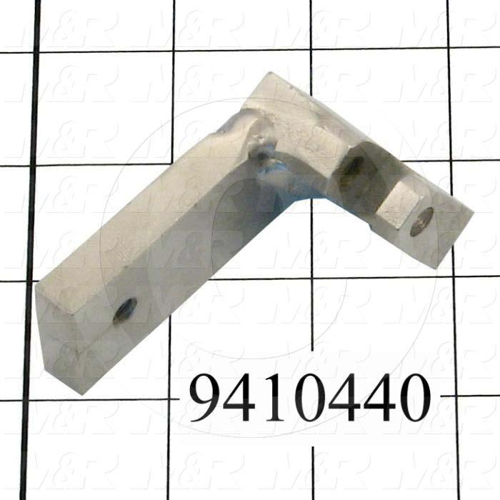 Fabricated Parts, Cylinder Bracket Weldment, 2.61 in. Length, 2.00 in. Width, 1.52 in. Height, Rear Side
