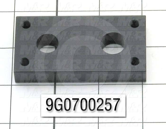Fabricated Parts, Cylinder Holder, 3.00 in. Length, 1.50 in. Width, 0.50 in. Height