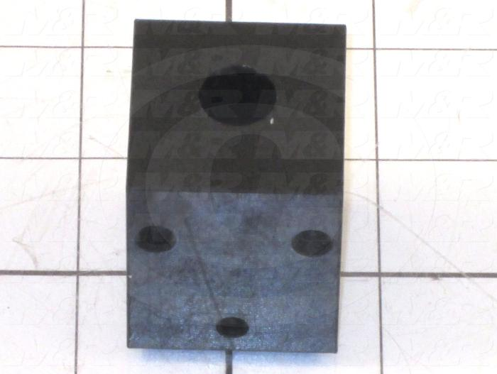 Fabricated Parts, Cylinder Holder/Mount, 1.45 in. Length, 1.38 in. Width, 1.63 in. Height, Plain Finish