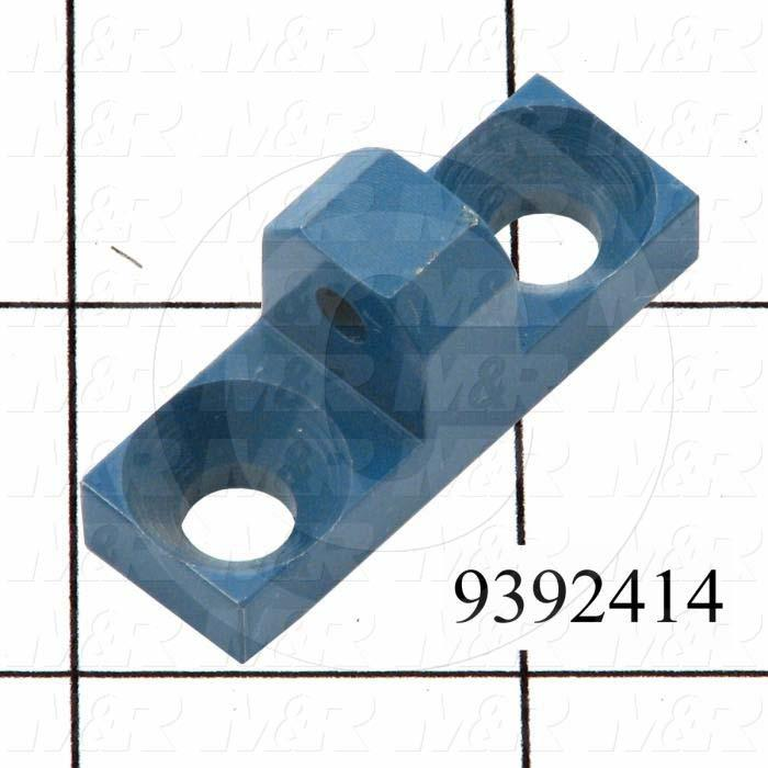 Fabricated Parts, Cylinder Mount Bracket, 1.50 in. Length, 0.50 in. Width, 0.70 in. Height, Painted Blue Finish