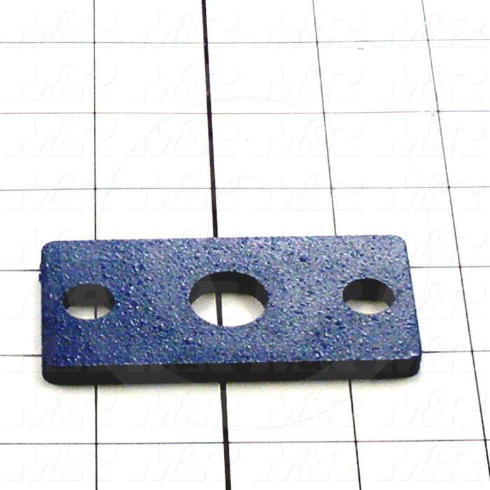 Fabricated Parts, Cylinder Mount Plate, 3.00 in. Length, 1.50 in. Width, 0.18 in. Thickness