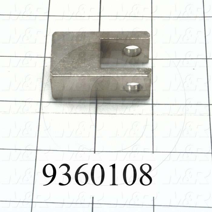 Fabricated Parts, Cylinder Pivot Bracket, 1.75 in. Length, 1.00 in. Width, 0.75 in. Height
