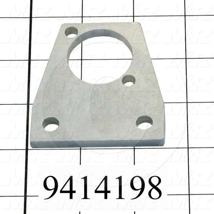 "Fabricated Parts, Cylinder Plate 2.717"", 2.50 in. Length, 2.66 in. Width, 0.25 in. Thickness, Zinc Plated Finish"