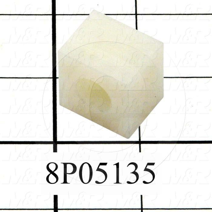 Fabricated Parts, Cylinder Safety Cap, 1.00 in. Length, 0.78 in. Width, 1.00 in. Height