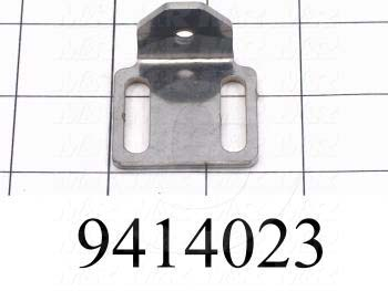 "Fabricated Parts, Dial Indicator Holder 1.5"" Rl, 1.27 in. Length, 1.50 in. Width, 0.72 in. Height, 12 GA Thickness"