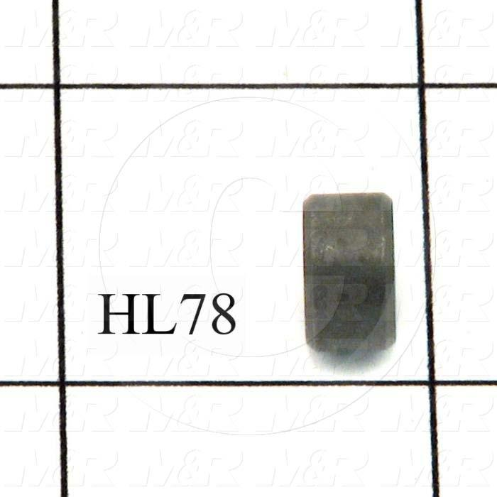 Fabricated Parts, Diaphragm Plate Spacer, 0.25 in. Height, 0.43 in. Diameter, Black Oxide Finish