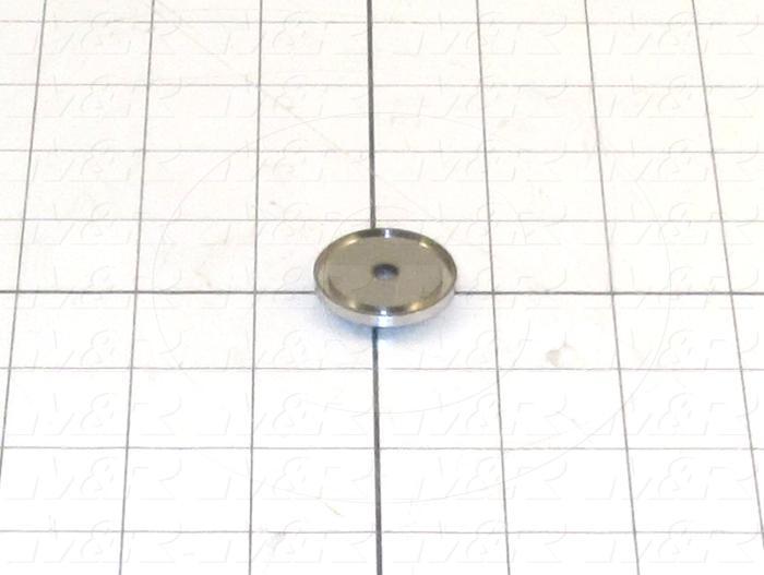Fabricated Parts, Door Switch Stop, 1.20 in. Diameter, 0.18 in. Thickness