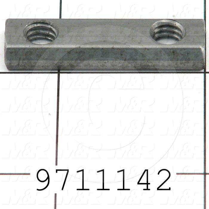 Fabricated Parts, Double Economy T-Nut 1.38 in., 1.38 in. Length, 0.44 in. Width, 0.19 in. Height
