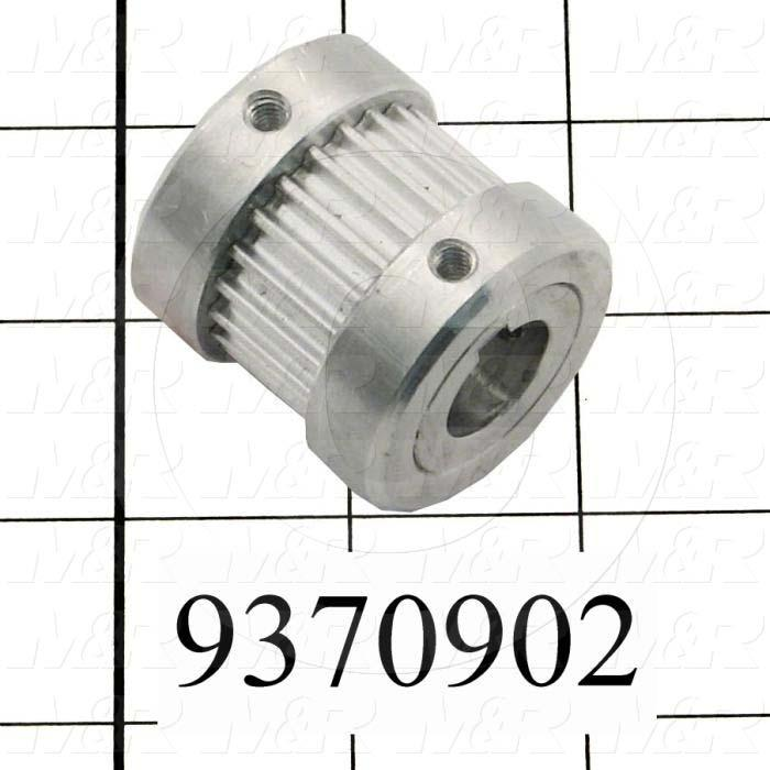 Fabricated Parts, Double Heavy Flange Pulley, 1.55 in. Length, 1.50 in. Diameter