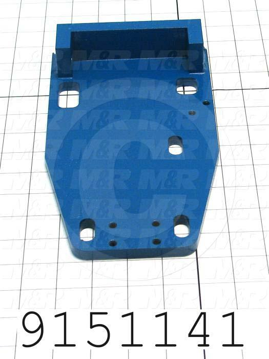 Fabricated Parts, Double Index Base Weldment, 10.00 in. Length, 5.50 in. Width, 1.62 in. Height