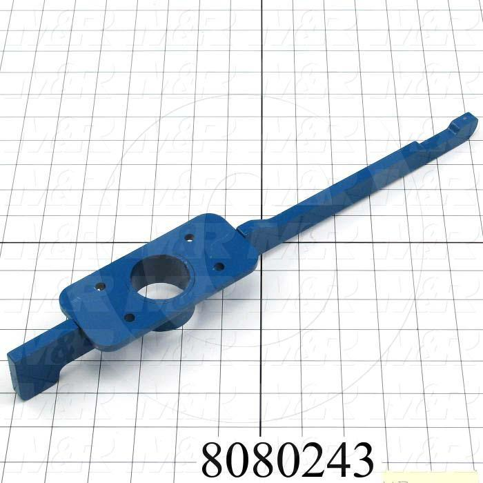 Fabricated Parts, Down Plate Weldment, 15.31 in. Length, 2.25 in. Width, 1.63 in. Height