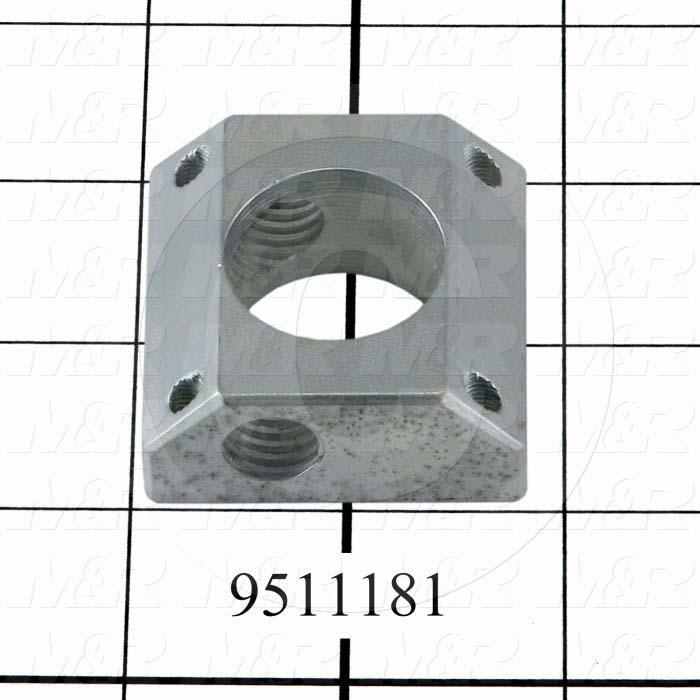 Fabricated Parts, Dripless Cylinder Base, 1.75 in. Length, 1.75 in. Width, 0.75 in. Height