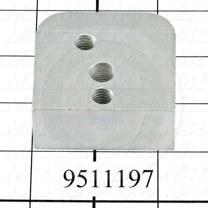 Fabricated Parts, Dripless Square Cylinder Mounting Bracket, 2.25 in. Length, 2.13 in. Width, 1.00 in. Height