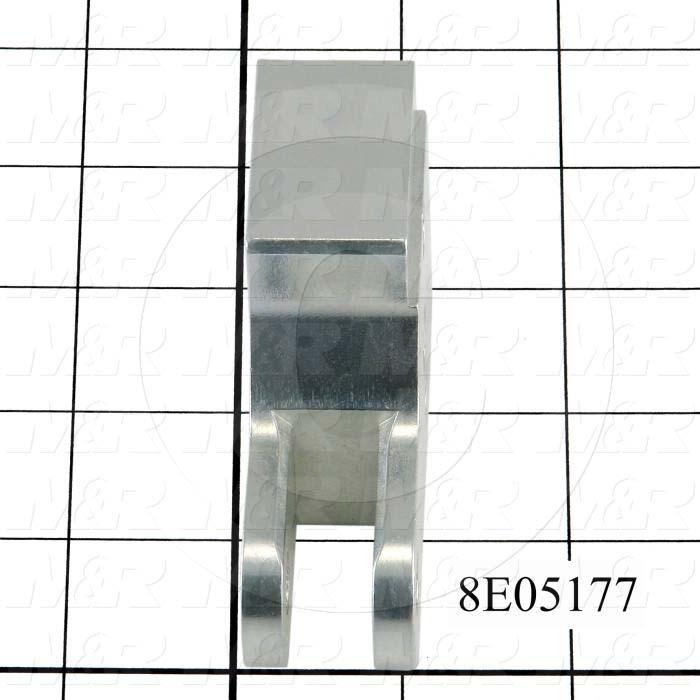 Fabricated Parts, Dripless Squeegee Cylinder Mounting Bracket, 3.25 in. Length, 2.13 in. Width, 1.00 in. Height