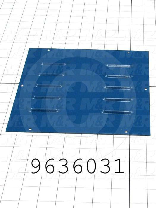 Fabricated Parts, Drive Cover, 9.00 in. Length, 9.00 in. Width, 18 GA Thickness